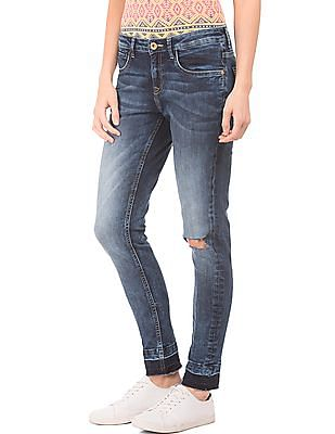 U.S. Polo Assn. Women Washed Super Skinny Jeans