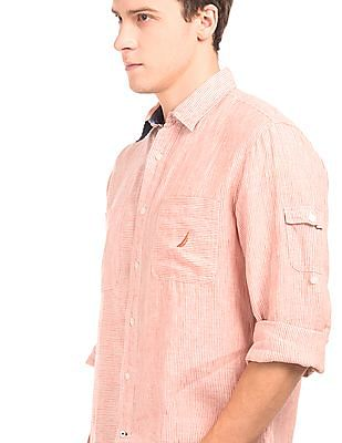 Nautica Striped Linen Shirt