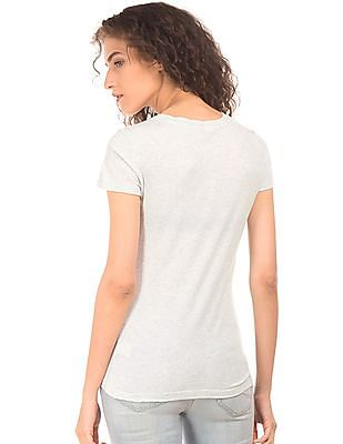 Aeropostale Appliqued Cotton T-Shirt