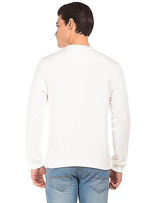 Ed Hardy Brand Print Slim Fit Sweatshirt