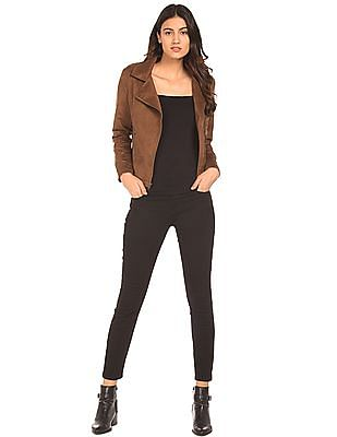 0040eb274 Buy Women Regular Fit Suedette Jacket online at NNNOW.com