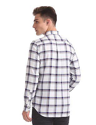 Gant Brushed Oxford Check Regular Button Down Shirt