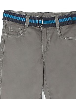 Cherokee Boys Belted Solid Trousers