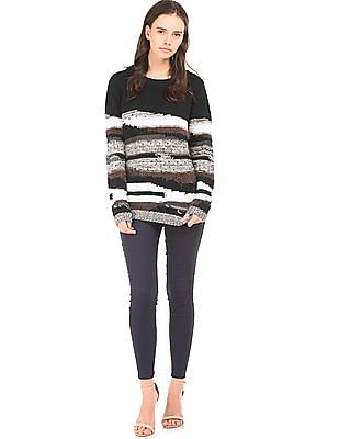 Elle Patterned Round Neck Sweater