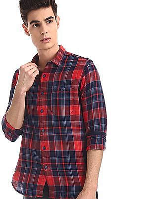 Ed Hardy Red Slim Fit Check Shirt