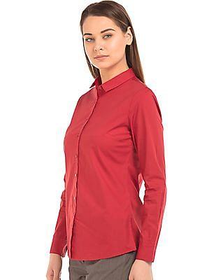 Arrow Woman Solid Regular Fit Shirt