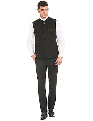 Arrow Textured Nehru Jacket