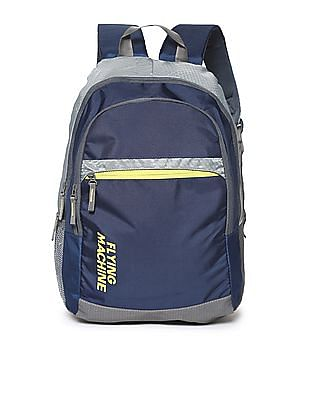 Flying Machine Contrast Panel Brand Print Backpack