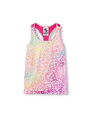 The Children's Place Girls Place Sport Sleeveless Printed Mesh Racer Back Tank Top