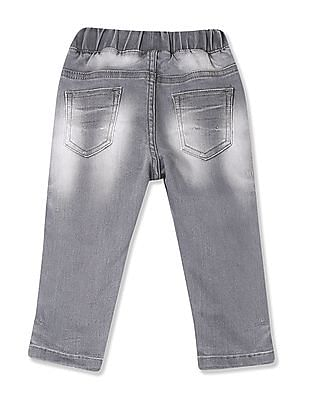 Donuts Boys Stone Wash Printed Jeans