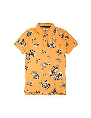 U.S. Polo Assn. Kids Boys Rose Print Polo Shirt