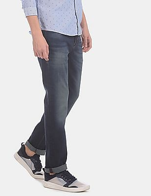 Flying Machine Men Blue Michael Slim Tapered Fit Washed Jeans