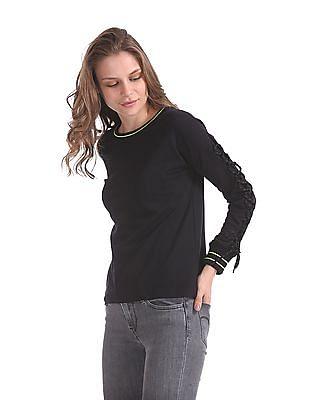 SUGR Lace Up Sleeve Active Sweatshirt