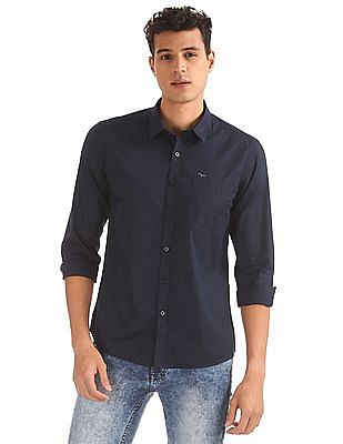 Flying Machine Slim Fit Solid Shirt