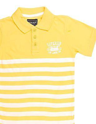 Cherokee Boys Short Sleeve Striped Polo Shirt