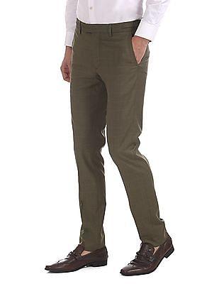 USPA Tailored Super Slim Fit Check Trousers