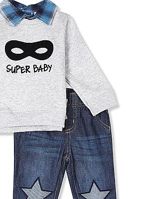 The Children's Place Assorted Baby Sweatshirt And Jeans Set