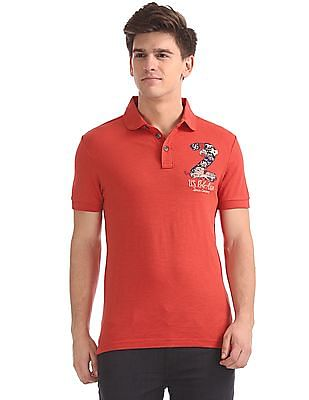 U.S. Polo Assn. Denim Co. Muscle Fit Slubbed Polo Shirt