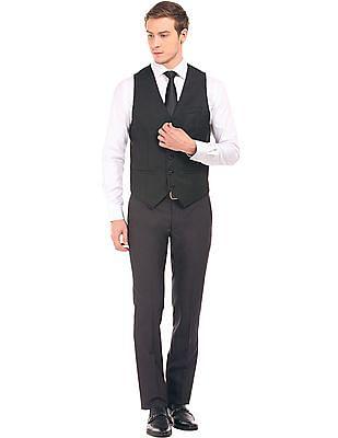 Arvind Adjustable Back Slim Fit Waistcoat