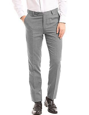 True Blue Tapered Fit Puppy Tooth Trousers