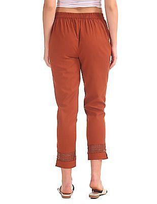 Karigari Crochet Trim Cropped Pants
