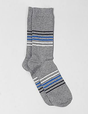 GAP Men Grey Pattern Crew Socks