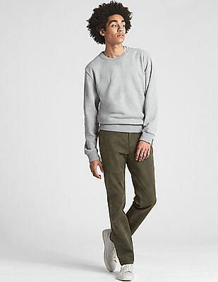 GAP Vintage Wash Distressed Khakis In Slim Fit With GapFlex