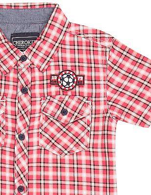Cherokee Boys Short Sleeve Check Shirt