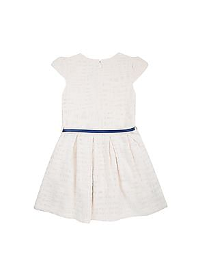 U.S. Polo Assn. Kids Girls Solid Cotton Fit And Flare Dress