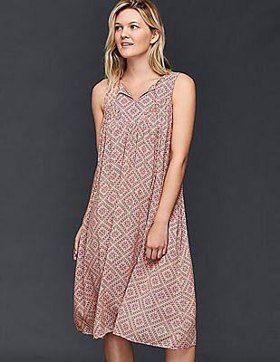 GAP Split-Neck Midi Dress