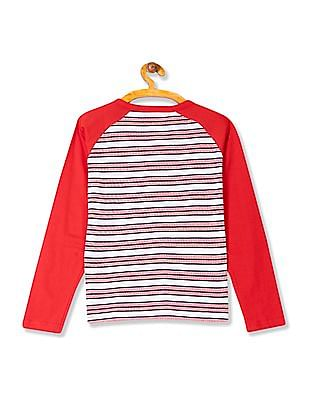 Cherokee Boys Striped Henley T-Shirt