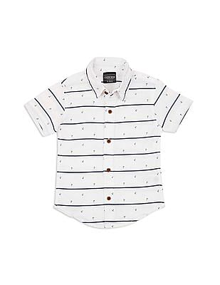 Cherokee Boys Anchor Print Regular Fit Shirt