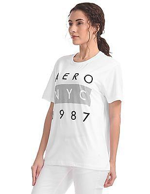 Aeropostale Printed Branding Regular Fit T-Shirt