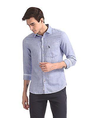 U.S. Polo Assn. Long Sleeve Tailored Regular Fit Shirt