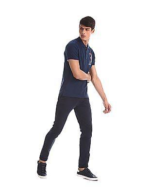 U.S. Polo Assn. Denim Co. Blue Tipped Pique Polo Shirt