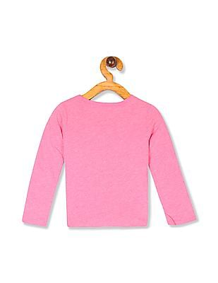 The Children's Place Baby Girls Pink Long Sleeve Graphic T-Shirt