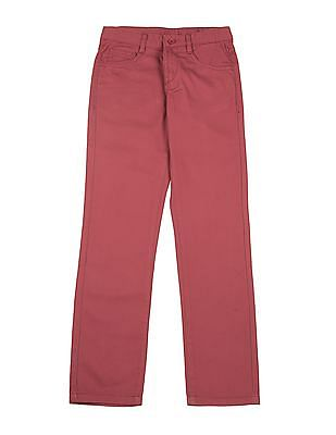 FM Boys Boys Slim Fit Cotton Twill Trousers