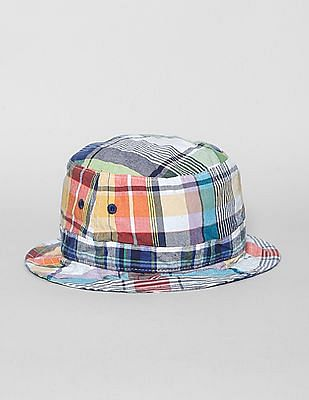 GAP Baby Multi Colour Plaid Bucket Hat