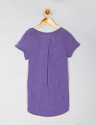 GAP Girls Purple GapFit Graphic High Low Tee