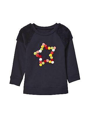GAP Baby Textured Graphic Sweatshirt Tunic