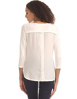 Nautica Panelled Back Solid Top