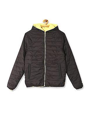 Flying Machine Hooded Reversible Jacket