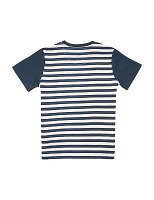 Cherokee Boys Striped Crew Neck T-Shirt