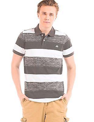 Aeropostale Slim Fit Striped Polo Shirt