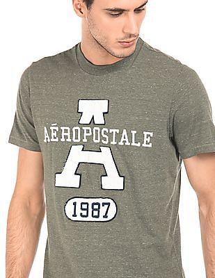 Aeropostale Heathered Brand Applique T-Shirt