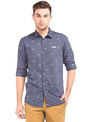 Cherokee Slim Fit Shark Print Shirt
