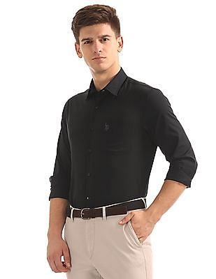 USPA Tailored Regular Fit French Placket Shirt