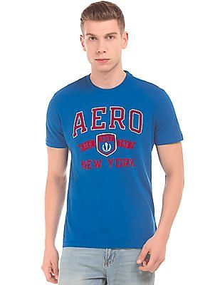 Aeropostale Flock Print Regular Fit T-Shirt