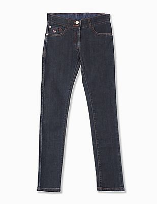 U.S. Polo Assn. Kids Girls Skinny Fit Dark Wash Jeans