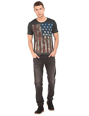 Ed Hardy Flag Print Slim Fit T-Shirt